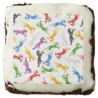 Colored Pattern Unicorn Brownie