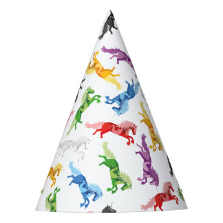 Colored Pattern Unicorn Party Hat