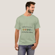 Colored PAWS Animal Caretaker Pet Sitter T-Shirt