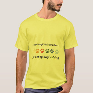 Colored PAWS Animal Caretaker Pet Sitter T-Shirt