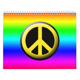 Colored Peace Symbols Calendar