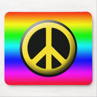 Colored Peace Symbols Mouse Pad