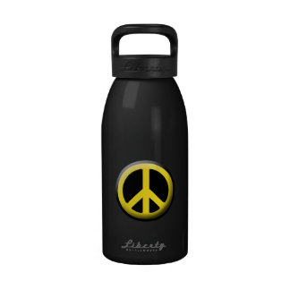 Colored Peace Symbols Water Bottle
