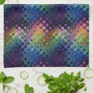 Colored Peacock Art Towel