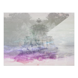 Colored Peak Abstract Poster