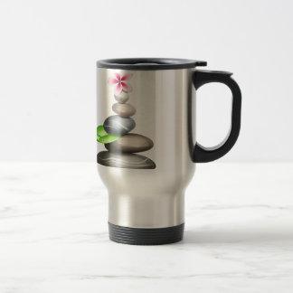 Colored pebbles 15 oz stainless steel travel mug