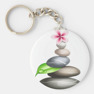 Colored pebbles keychain