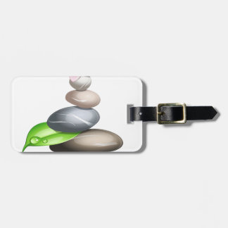 Colored pebbles luggage tag
