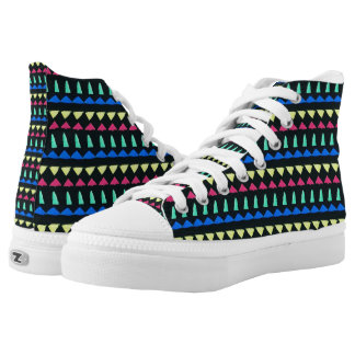 Colored Pegs High-Top Sneakers