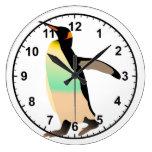 Colored Peguin Clocks