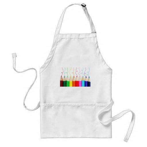 Colored Pencil Art Apron