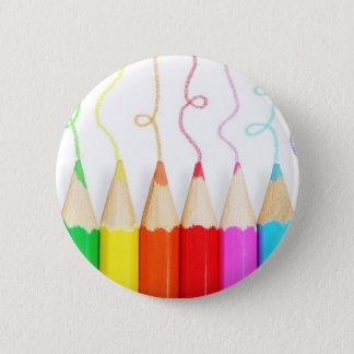 Colored Pencil Art Pinback Button