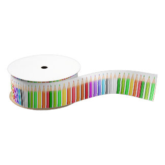 Colored Pencil Chorus Line Grosgrain Ribbon
