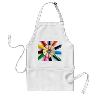Colored Pencil Circle Adult Apron
