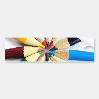 Colored Pencil Circle Bumper Sticker