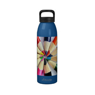 Colored Pencil Circle Drinking Bottles