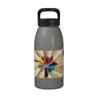 Colored Pencil Circle Reusable Water Bottle