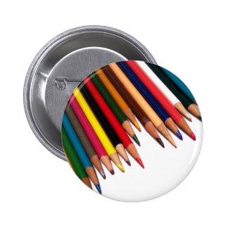 Colored Pencil Corner Pinback Button