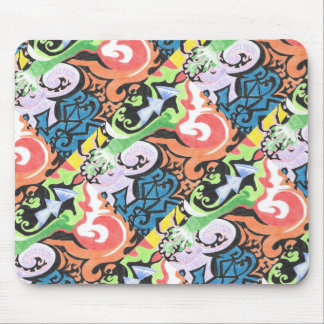 Colored Pencil Funk Mouse Pad