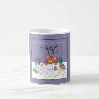 Colored Pencil Kitty Coffee Mug
