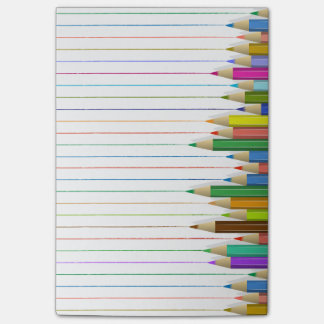Colored Pencil Lines Post-it Notes