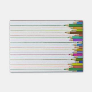 Colored Pencil Lines Right Post-it Notes