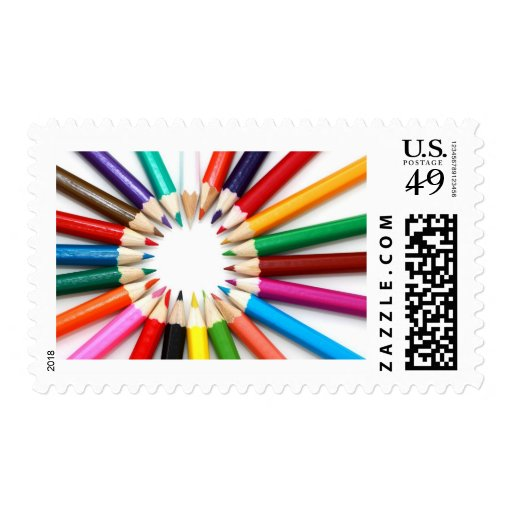Colored Pencil Postage