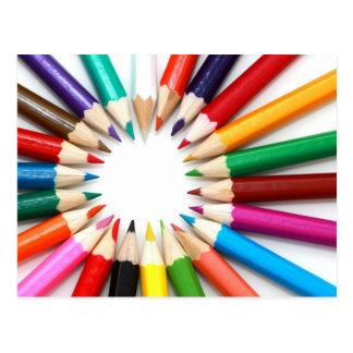 Colored Pencil Postcard