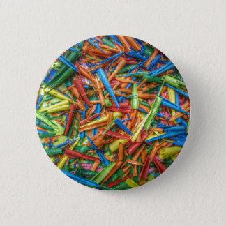 Colored Pencil Shavings Pinback Button