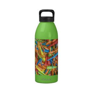 Colored Pencil Shavings Reusable Water Bottle
