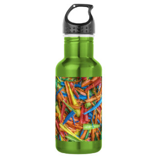 Colored Pencil Shavings Water Bottle