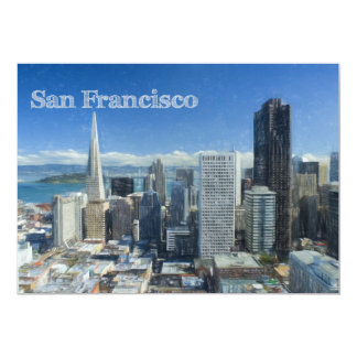 Colored Pencil Sketch of Downtown San Francisco Card