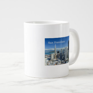 Colored Pencil Sketch of Downtown San Francisco Extra Large Mugs