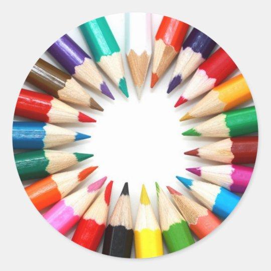 Colored Pencil Stickers