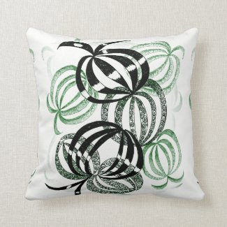 Colored Pencil Summer Green Bauble Pillow