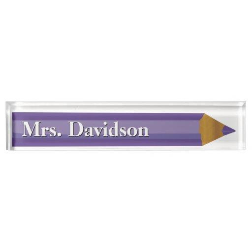 Colored Pencil Teacher S Custom Desk Nameplate Zazzle