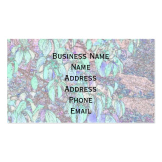 Colored Pencil Tree Leaves Double-Sided Standard Business Cards (Pack Of 100)