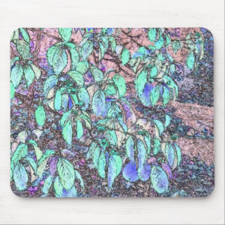 Colored Pencil Tree Leaves Mouse Pad