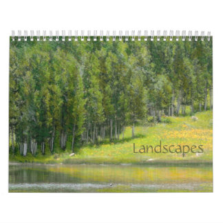 Colored Pencil Western Colorado Landscape Calendar