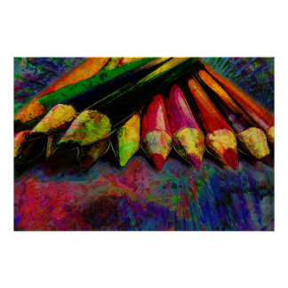 Colored Pencils Art Supplies Poster