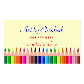 Colored Pencils-Artist Double-Sided Standard Business Cards (Pack Of 100)