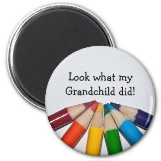 Colored Pencils Artwork Display Magnet