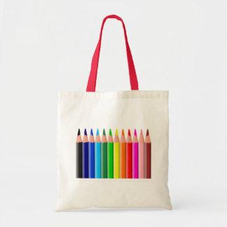 Colored Pencils Canvas Bag