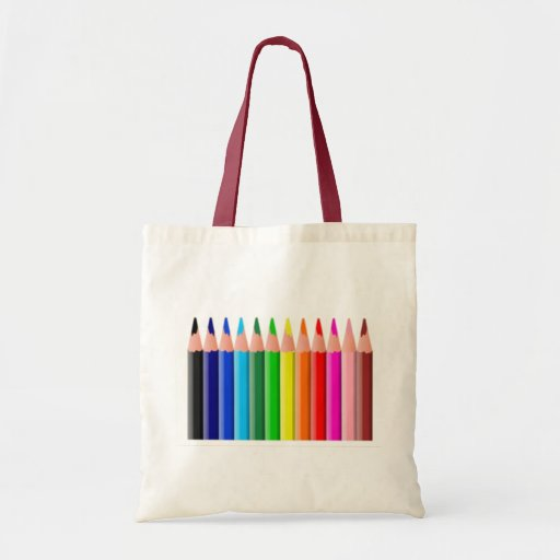 Colored Pencils Budget Tote Bag
