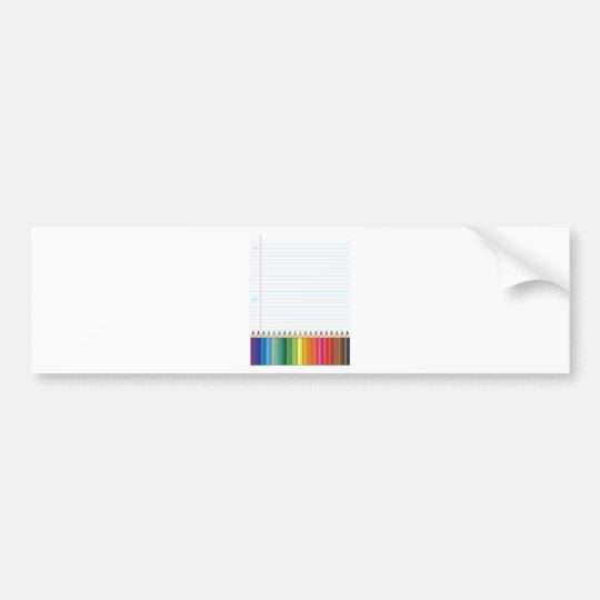 Colored Pencils Bumper Sticker