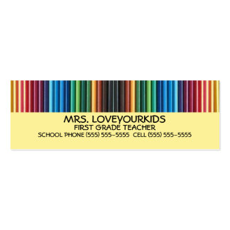 Colored Pencils Double-Sided Mini Business Cards (Pack Of 20)