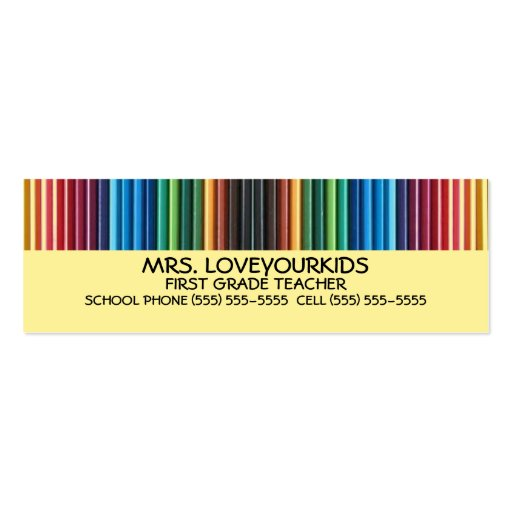 Colored Pencils Business Card Templates