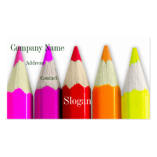Colored Pencils Business Card Template