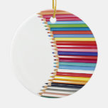 Colored Pencils Christmas Tree Ornament