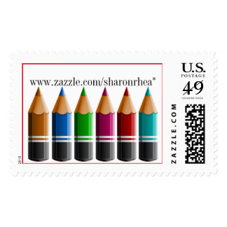 Colored Pencils Contemporary Postage - srf